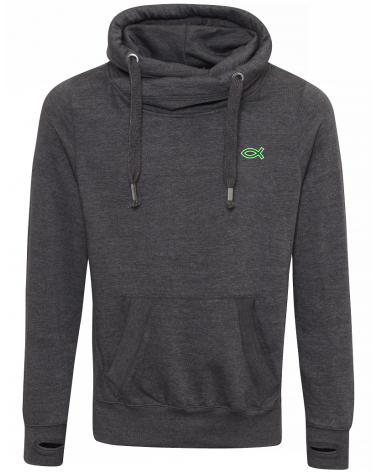 Heren hoodie Ichthus groen symbool €47,95 Home