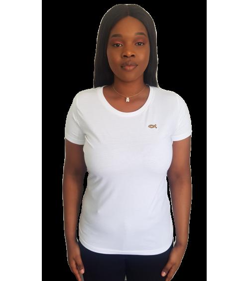 Dames T-shirt Wit Ichthus | Fair wear €28,95 Home
