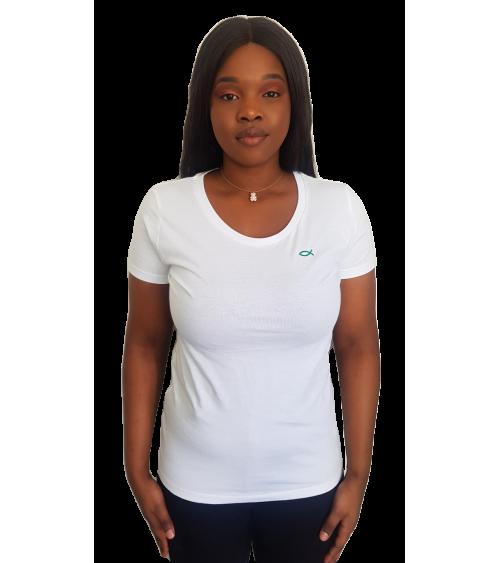 Dames Ichthus T-shirt Wit | Fair wear €28,95 Home