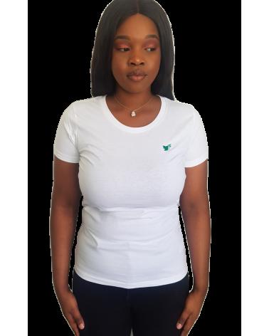 Dames Duif Wit T-shirt | Fair wear €28,95 Home