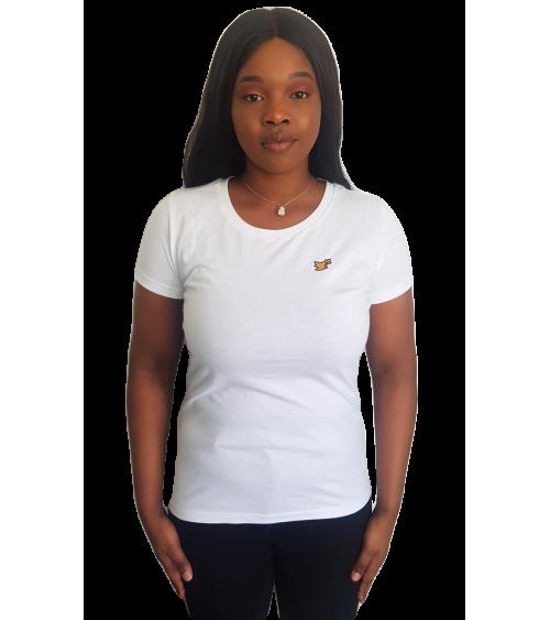 Dames Wit T-shirt Duif logo | Fair wear €28,95 Home
