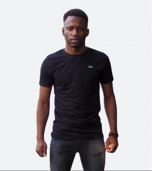 Heren Ichthus T-shirt Zwart | Fair wear €28,95 Home