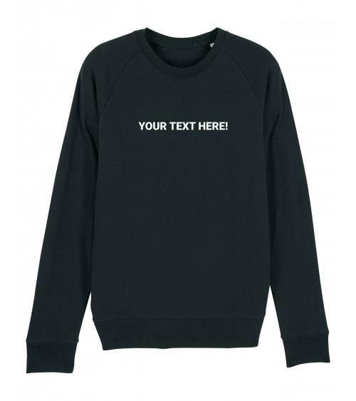 Custom Heren zwarte Sweater | Fair wear €34,95 *CUSTOMIZE*