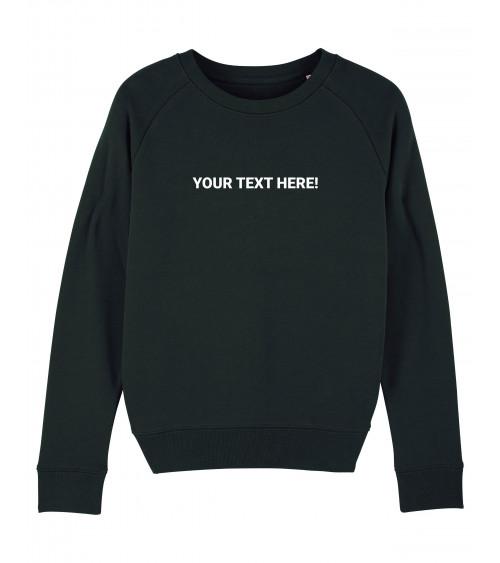 Custom dames zwarte Sweater | Fair wear €34,95 *CUSTOMIZE*