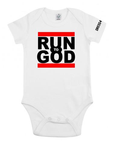 Baby romper Run to God | Fair wear €14,95 -30% Home
