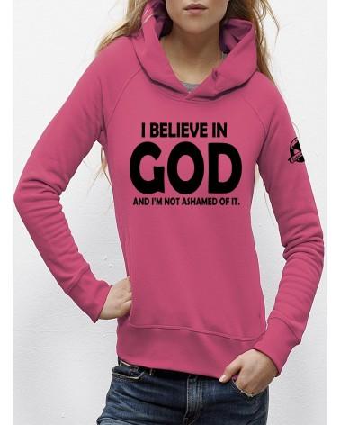 Dames hoodie I believe in God   Fair wear €25,95 -30% Home