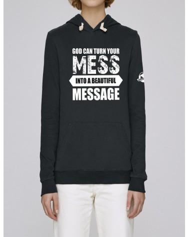 Dames hoodie God can turn | Fair wear €35,95 -30% Home