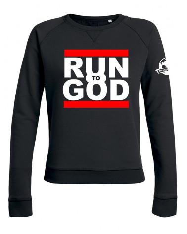 Dames sweater Run to God | Fair wear €35,95 -30% Home