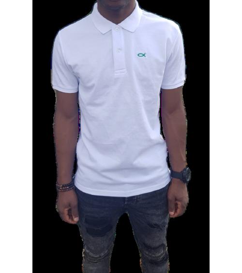 Heren Ichthus Poloshirt Wit | Fair wear €37,95 Home
