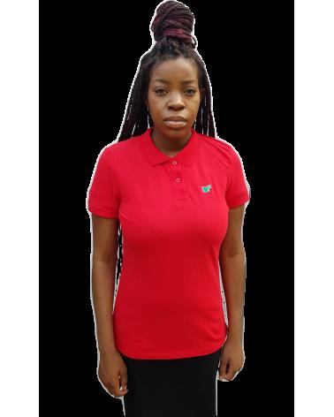 Dames Duif Poloshirt Rood| Fair wear €37,95 Home