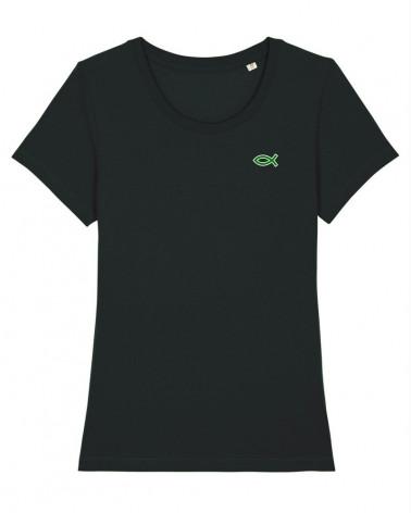 Dames Ichthus T-shirt Zwart   Fair wear €28,95 Home