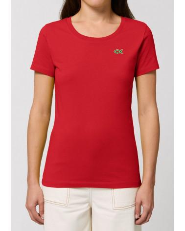 Dames Ichthus logo Rood T-shirt   Fair wear €32,95 Home