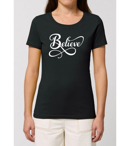 Dames T-shirt Believe | Fair wear €27,95 -30% Home
