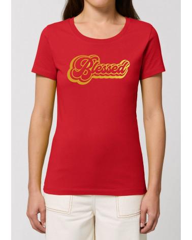 Dames Blessed Rood T-shirt | Fair wear €27,95 -30% Home