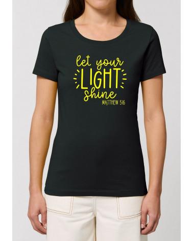 Dames Let your light shine T-shirt | Fair wear €27,95 -30% Home
