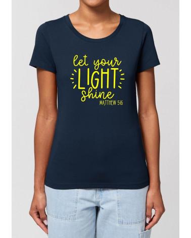 Dames T-shirt Let your light shine | Fair wear €27,95 -30% Home