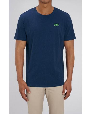 Heren Ichthus T-shirt Navy blauw | Fair wear €32,95 Home