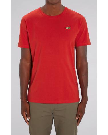 Heren Ichthus T-shirt Rood | Fair wear €32,95 Home