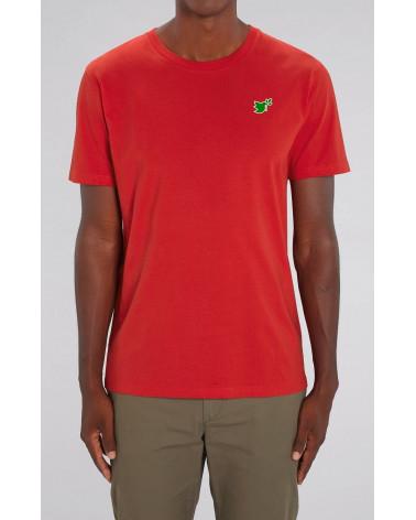 Heren Duif T-shirt Rood   Fair wear €32,95 Home