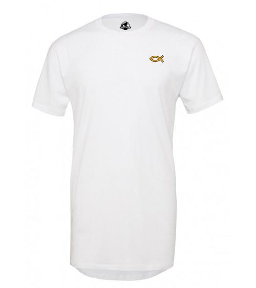 Men's Gold Ichtus Long T-Shirt