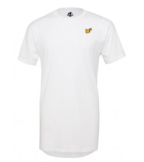 Heren Lange witte T-shirt Duif logo goud €34,95 Home
