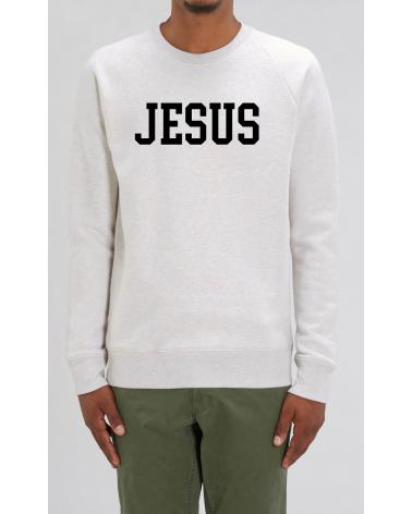Heren grijze sweater Jesus | Fair wear €37,95 Home