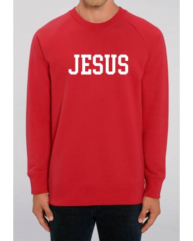 Men's Jesus red sweater   Fair wear