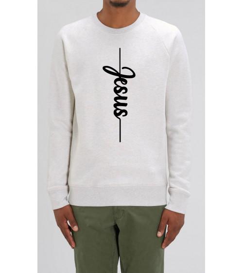 Men's Jesus sweater grey | Fair wear