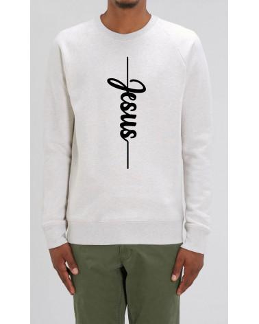 Heren Jesus sweater grijs | Fair wear €37,95 Home