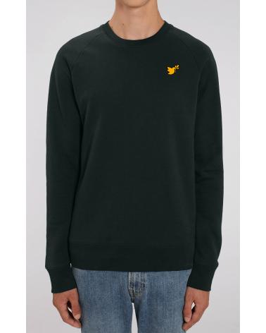 Heren zwarte trui goude Duif logo | Fair wear €42,95 Home
