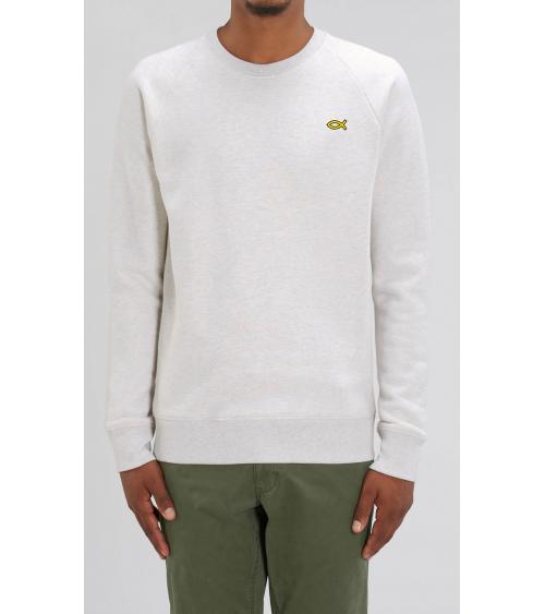 Heren sweater Ichthus logo goud | Fair wear €42,95 Home