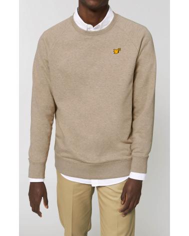 Christian clothing | Mens sweater Dove gold logo | Fair wear