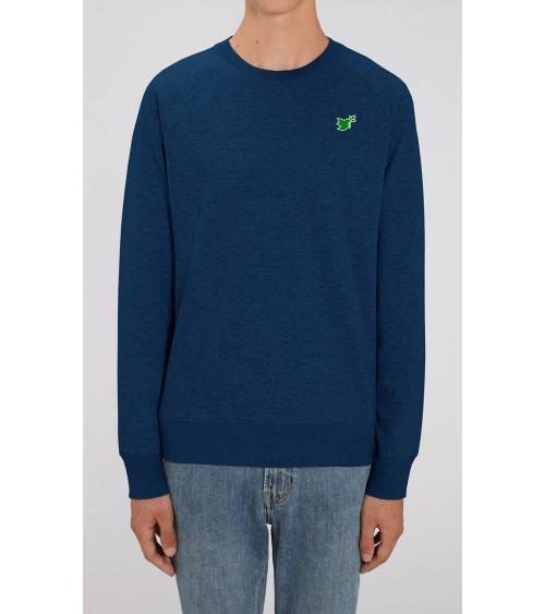 Heren Duif logo sweater navy blauw | Fair wear €42,95 Home