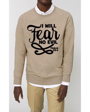 Christelijke kleding | Heren No Fear sweater | Fair wear €42,95 Home