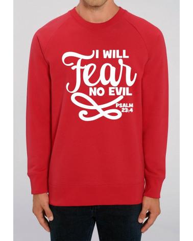 Christian clothing   Men's No Fear red sweater   Fair wear