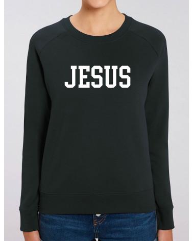 Dames Jesus sweater zwart | Fair wear €37,95 Home