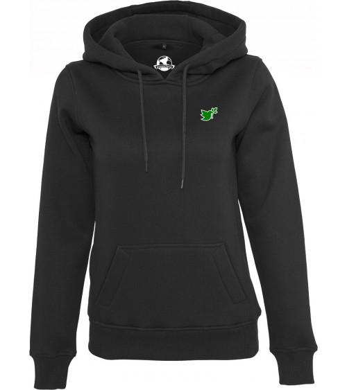 Dames zwarte Duif symbool hoodie €44,95 Home