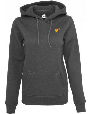 Ladies hoody Dove symbol gold