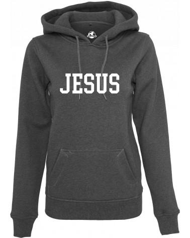 Dames Jesus grijs hoodie €41,95 Home