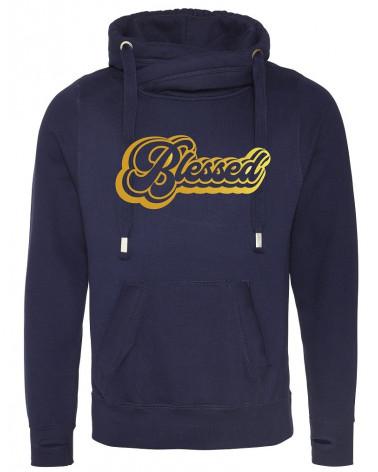 Heren Navy hoodie Blessed €44,95 Home